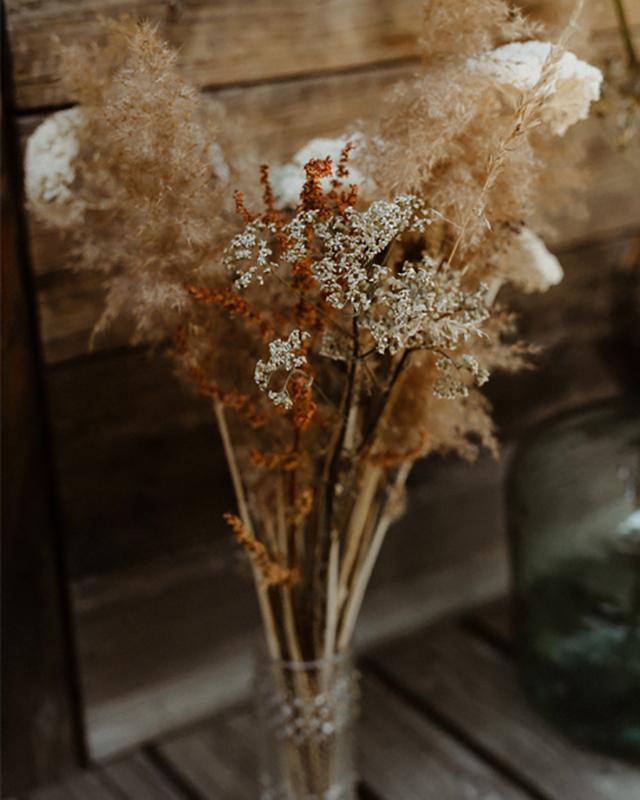 Bouquet bohème de fleurs séchées