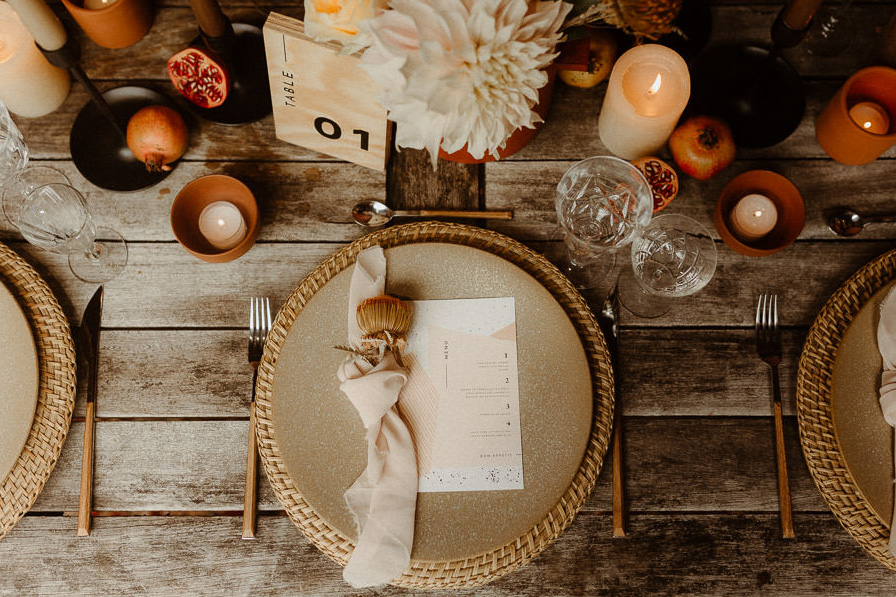 Jolie table de mariage alternatif