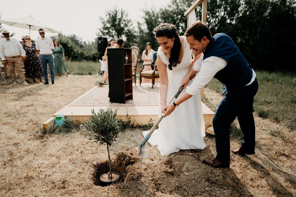 Rituel de ceremonie laique écologique