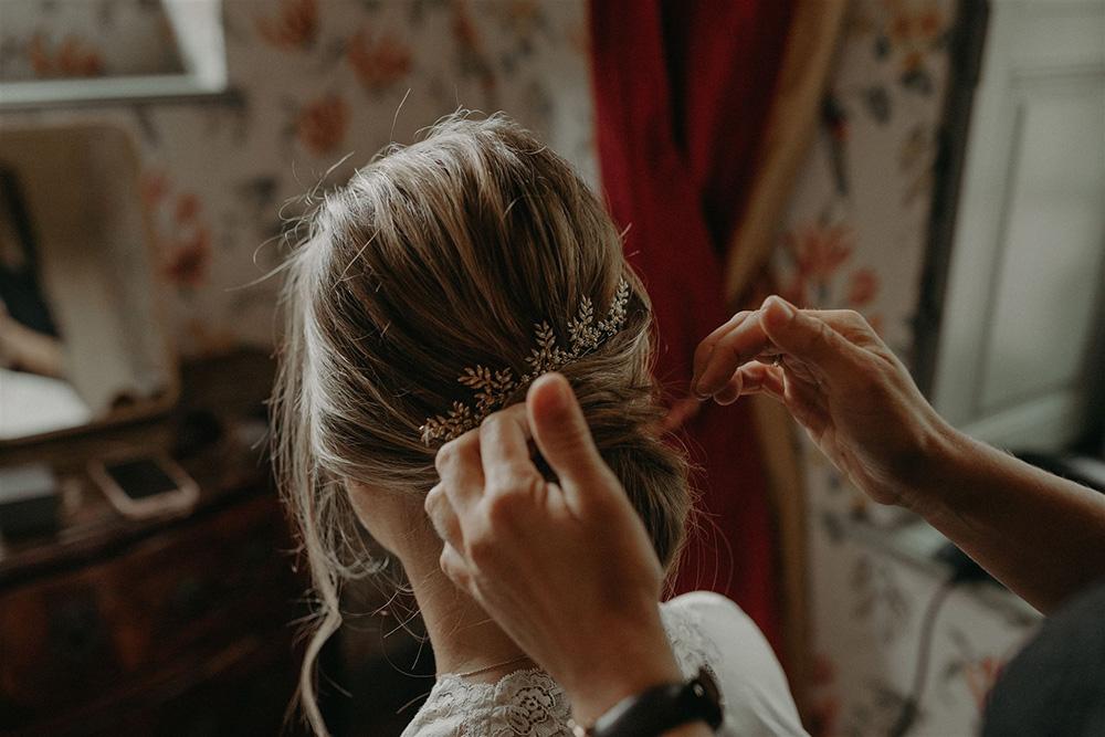 Routine cheveux naturelle pour future mariée