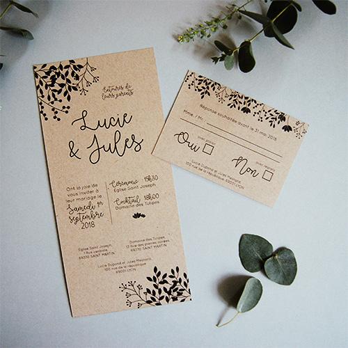 Papeterie mariage écologique