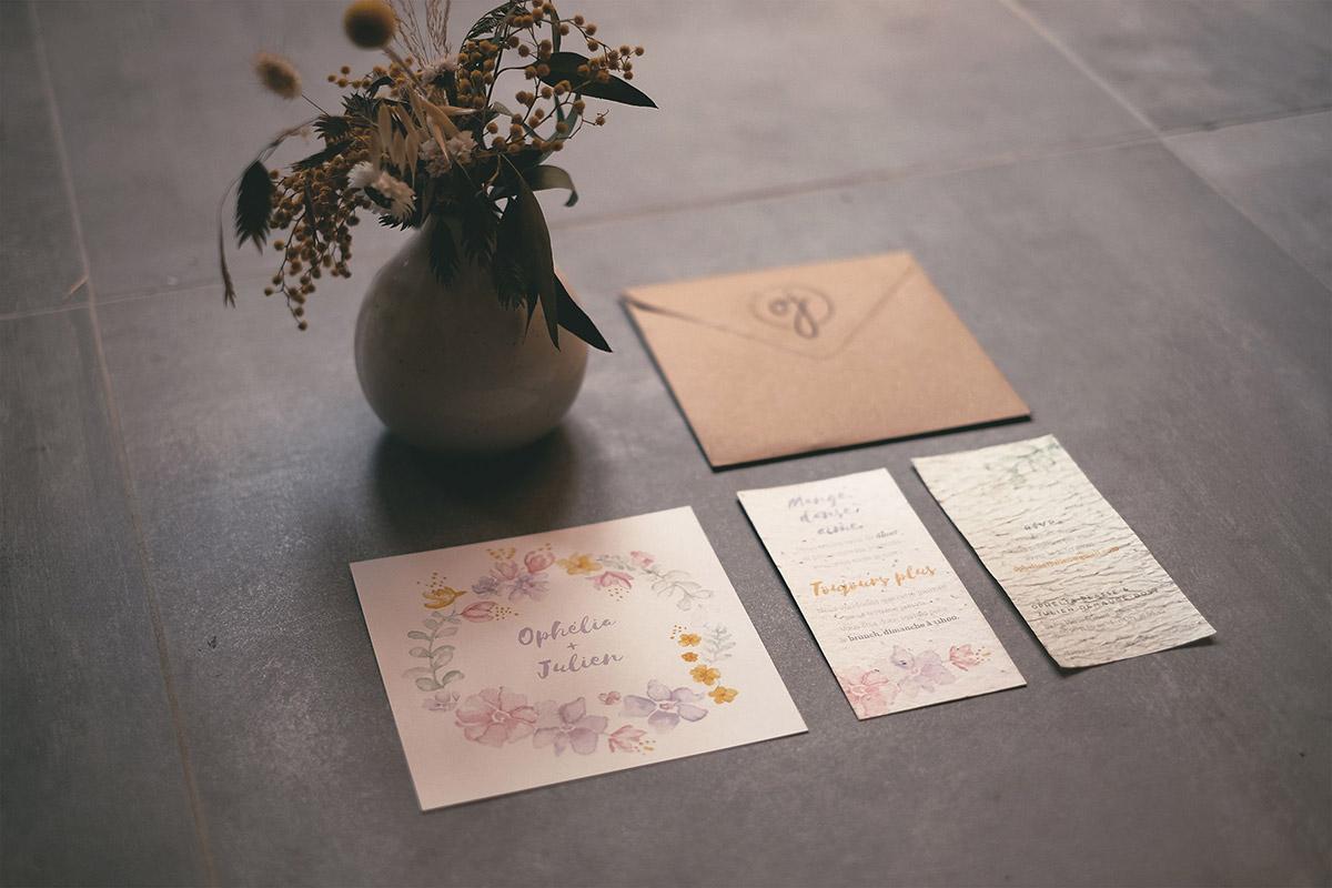 Faire-part mariage écologique