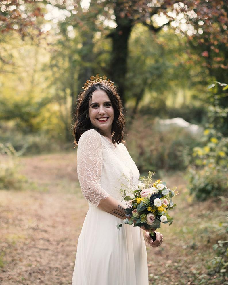 Maquillage mariée champêtre