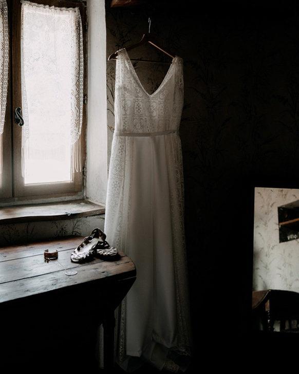 Robe de mariée longue fluide