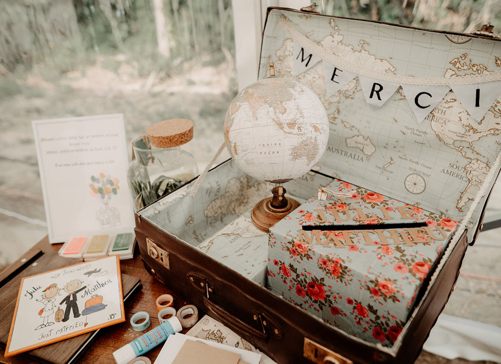 DIY urne mariage valise