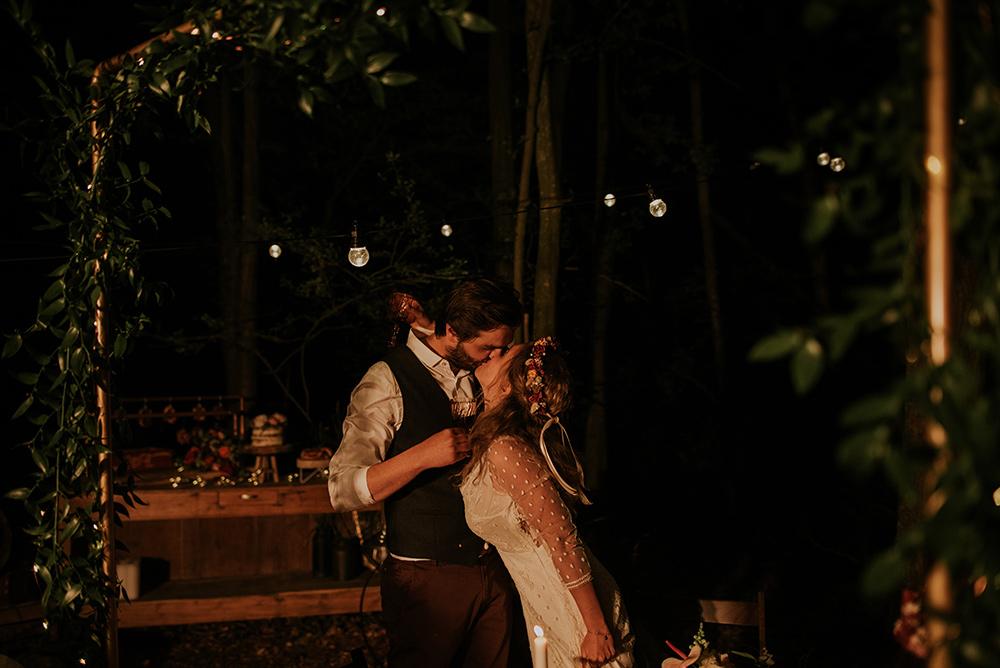 Soirée de mariage en extérieur