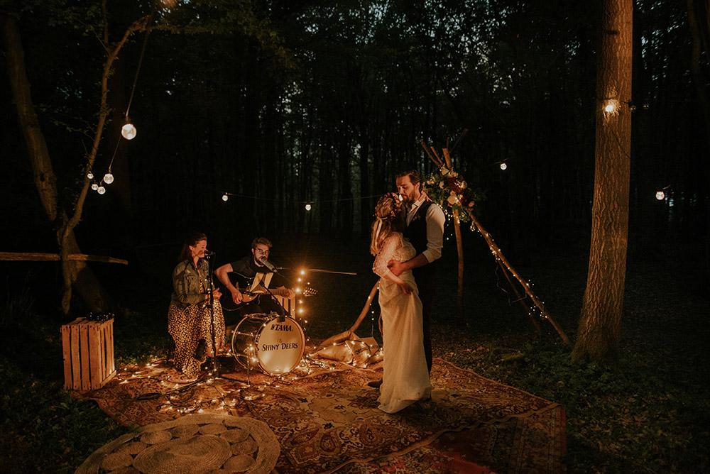 Soirée de mariage sous les étoiles