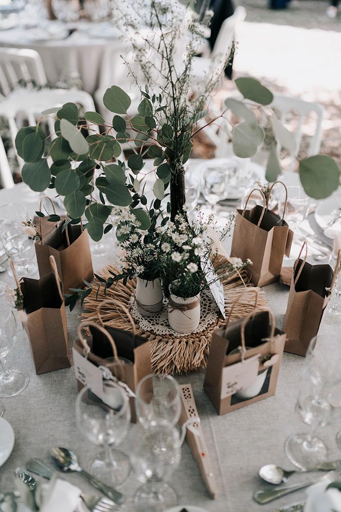 Centre de table minimaliste et végétal