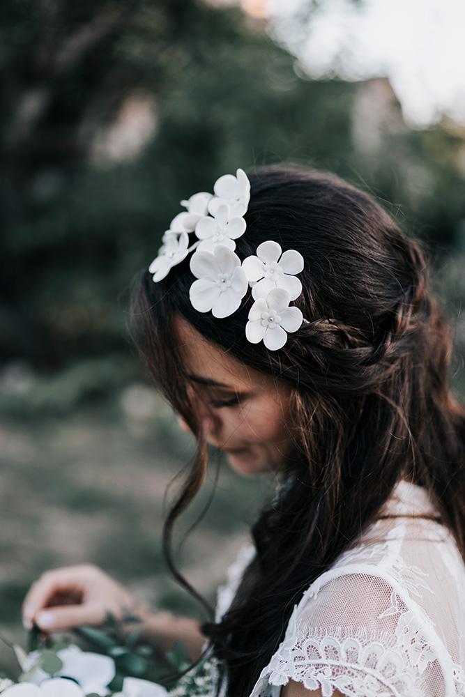 Couronne de mariée fleurs
