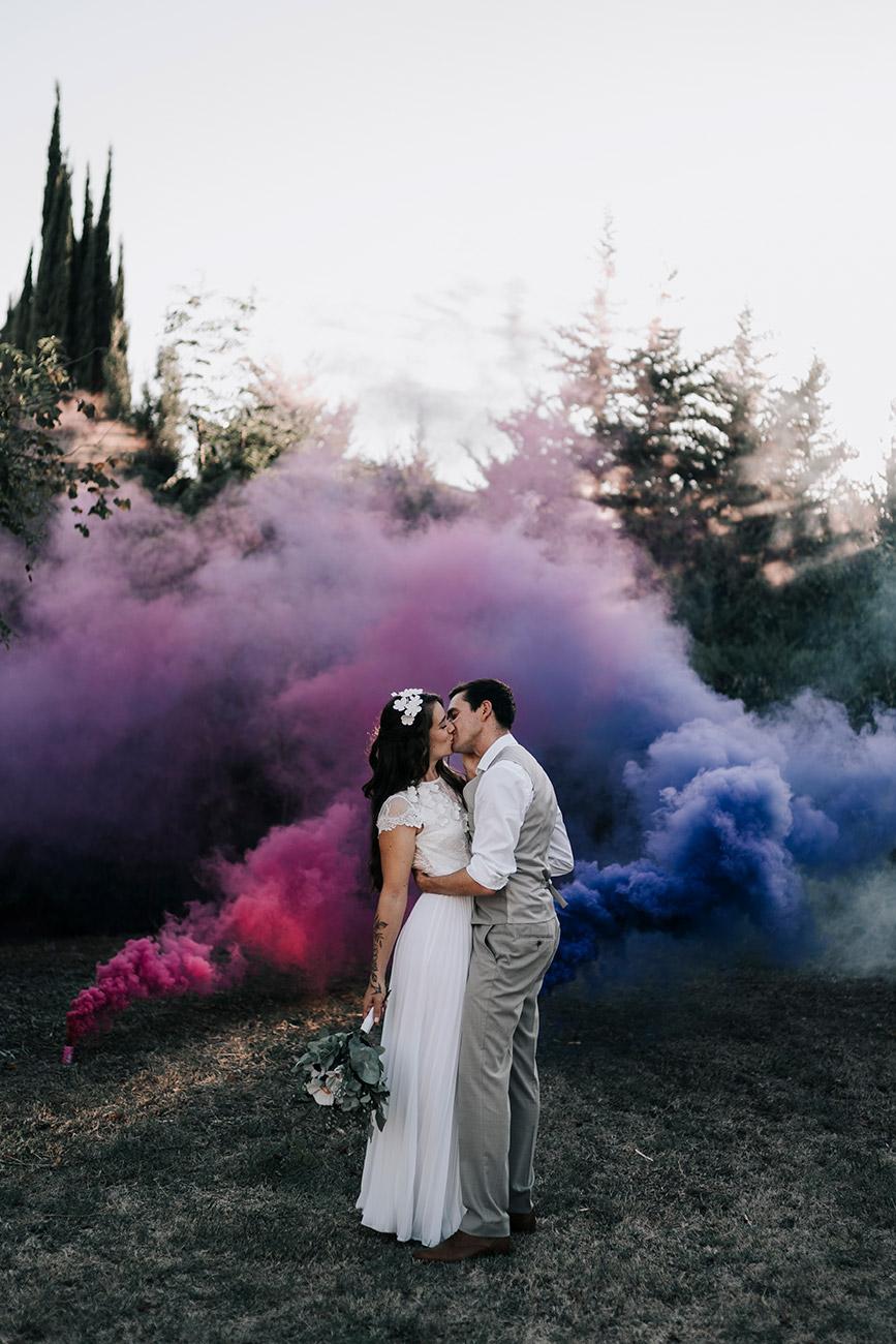 Fumigènes colorés