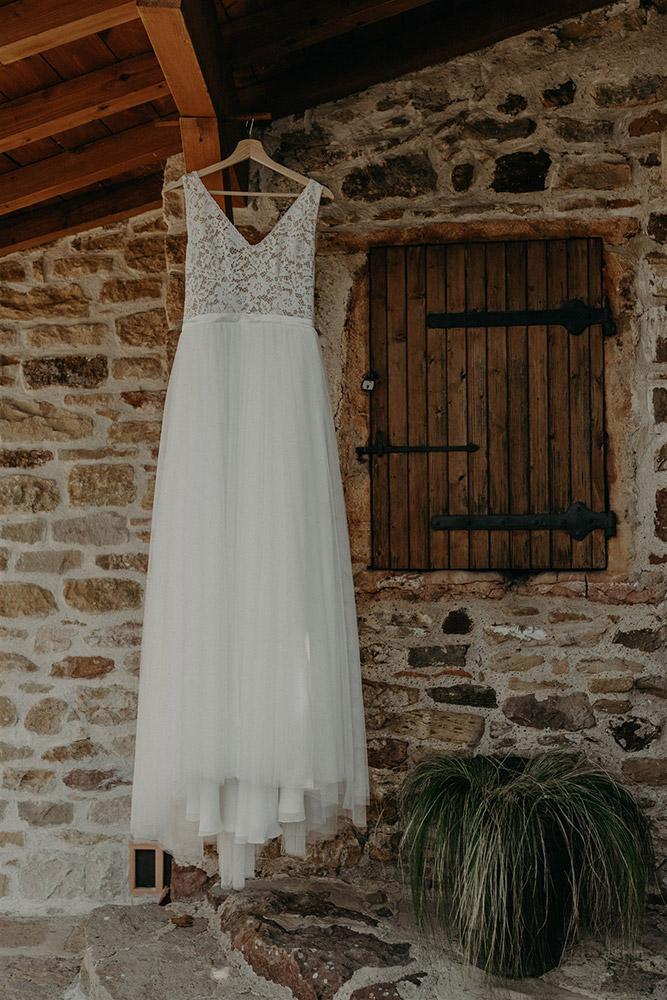 Robe de mariée fluides à manches longues