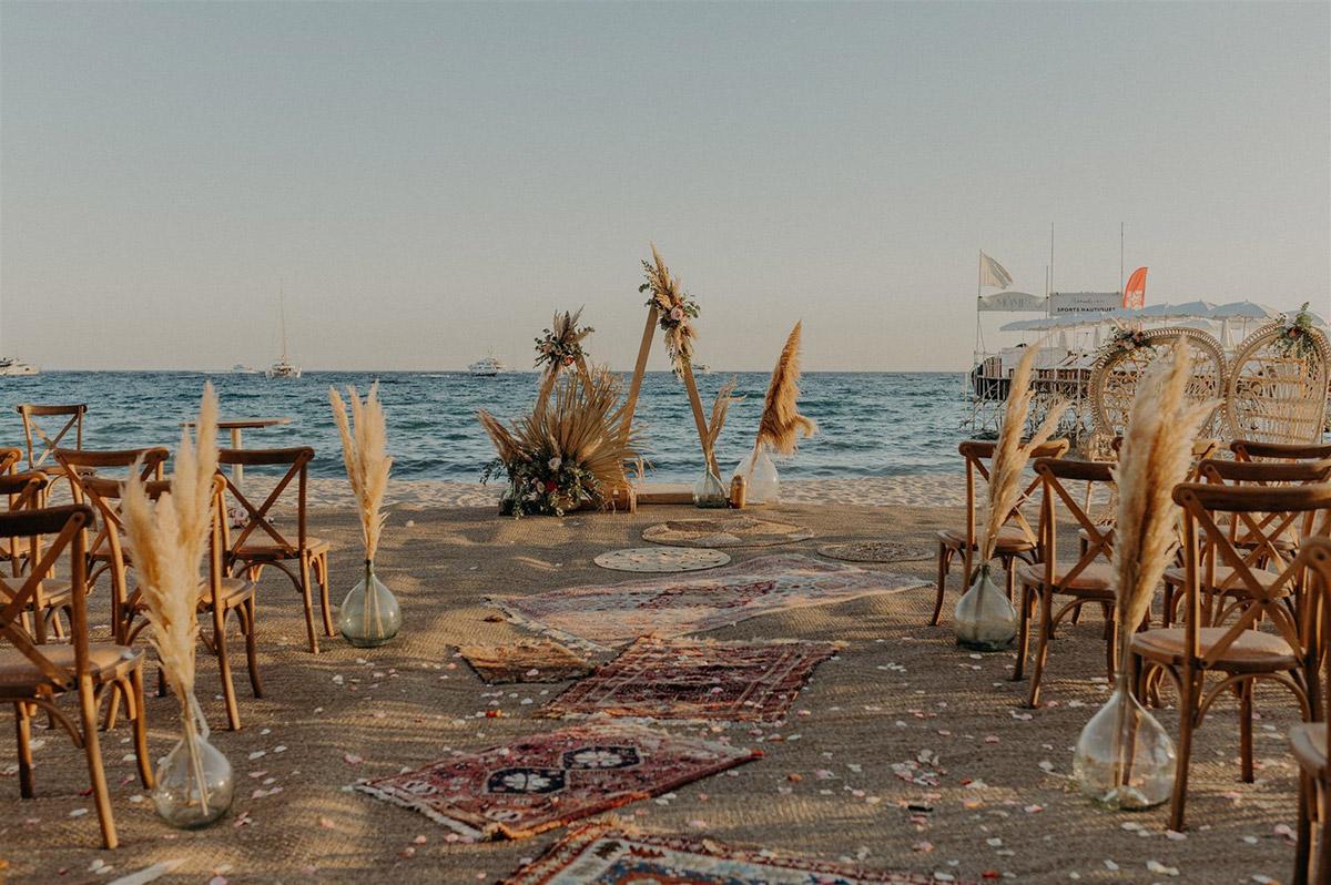 Cérémonie d'engagement sur le plage