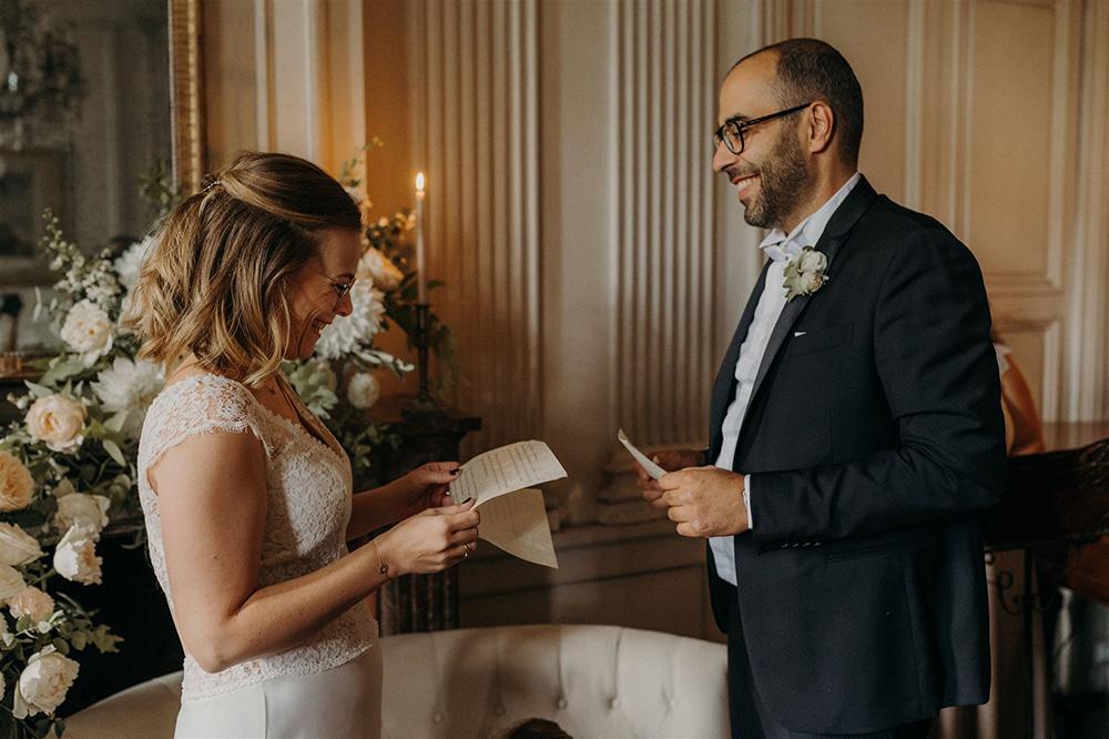 Échange de voeux de mariage